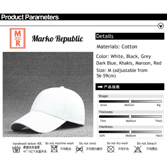 35278d3b370 Premium Quality Ulzzang Basic Plain Unisex Adjustable Baseball Cap