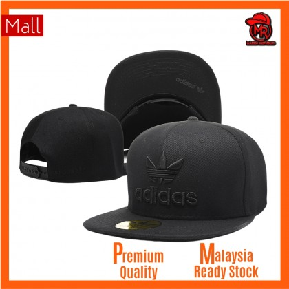 Adidas Hip Hop Men Women SnapBack Cap with adjustable strap ( Full Black )