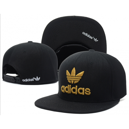 Adidas Hip Hop Men Women SnapBack Cap with adjustable strap  ( Black & Yellow )