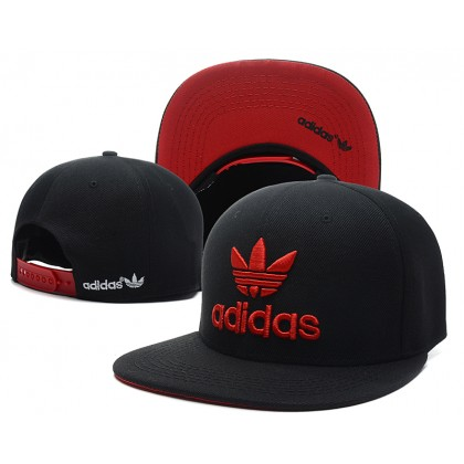 Adidas Hip Hop Men Women SnapBack Cap with adjustable strap ( Black with Red )