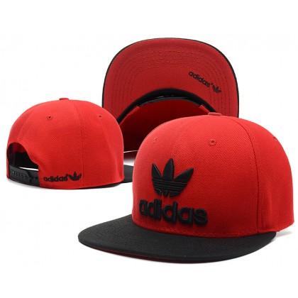 Adidas Hip Hop Men Women SnapBack Cap with adjustable strap ( Red )