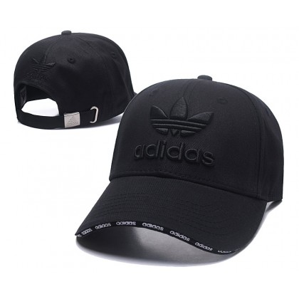 Adidas 3 Stripes Men Women Unisex Baseball Cap with adjustable strap (Full Black)