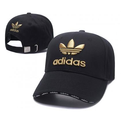 Adidas 3 Stripes Unisex Men Women Baseball Cap with adjustable strap (Black with Yellow)