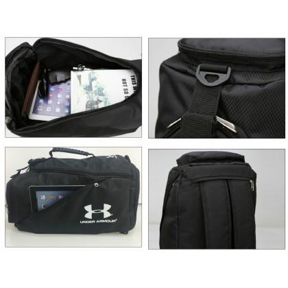 Under Armour Sling Shoulder Duffel Backpack Gym Luggage Travel 2 in 1 Bag (0615)
