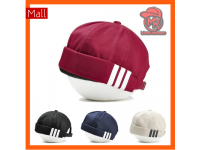 Adidas 3 stripes Hip Hop Men Women Unisex Skull Cap Topi with adjustable strap