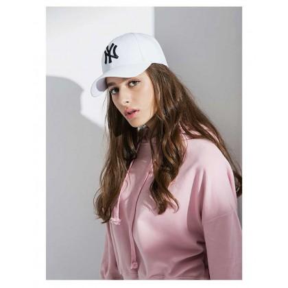 New Era New York NY Yankees Unisex Baseball Cap with adjustable strap (White Black)