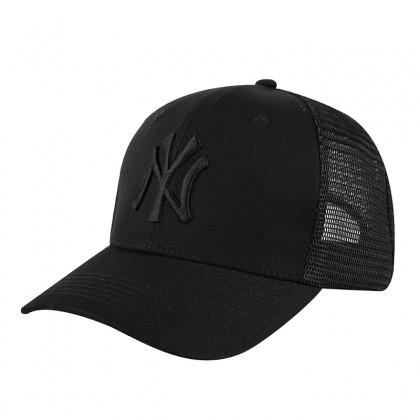 MLB New York NY Yankees Men Women Baseball Trucker Cap with adjustable strap (Full Black)