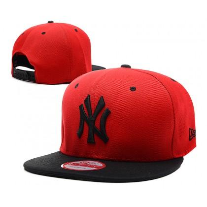 New Era New York NY Yankees Men Women Hip Hop SnapBack Cap with adjustable strap (Red)