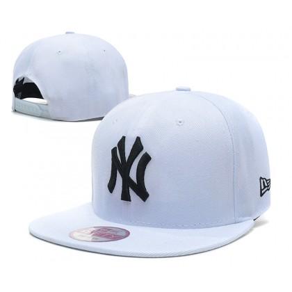 New Era MLB New York NY Yankees Men Women Hip Hop SnapBack Cap adjustable strap (White)