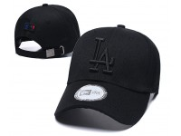 New Era LA Dodgers Los Angeles Men Women Baseball Cap with adjustable strap (Full Black)