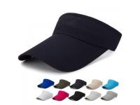 Basic Blank High Quality Polyester Plain Unisex Men Women Visor Cap for Outdoor Sports Beach Hat