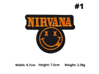 80's 90's Famous Rock Band Music Nirvana Metalica Korn Guns & Roses Sew On Iron On Embroidered Patches Embroidery Badge