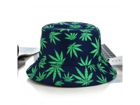 DGK Sativa Indica Green Marijuana_Leaves logo print Unisex Men Women Bucket Hat Cap
