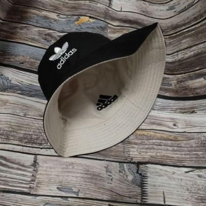 Adidas Two Side 2 Color Reversible Unisex Men Women Cotton Bucket Hat Cap