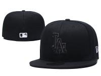 New Era NE MLB LA Los Angeles Men Women 59FIFTY Full Black SnapBack Cap with Close Full Fit