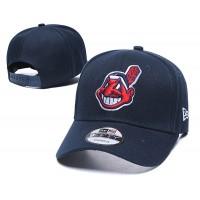 New Era MLB Cleveland Indians Men Women 59FIFTY Baseball Cap w adjustable strap (Dark Blue)