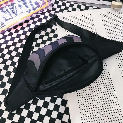 Dazzle Glow in the dark Cool Waist Bag Unisex Men Women Trendy Ins Hot Item Teenage Adult Casual Sling Chest Waist Bag