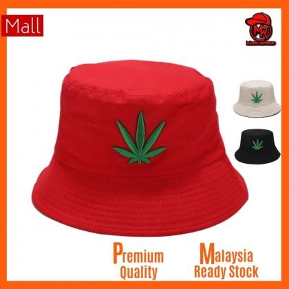 DGK Double Dual Side Reversible Sativa Indica Maple Green Leaves logo print Unisex Men Women Bucket Hat Cap