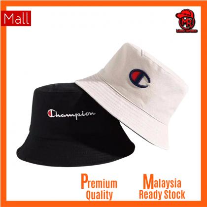 Champion Two Side 2 Color Reversible Unisex Men Women Cotton Bucket Hat Cap